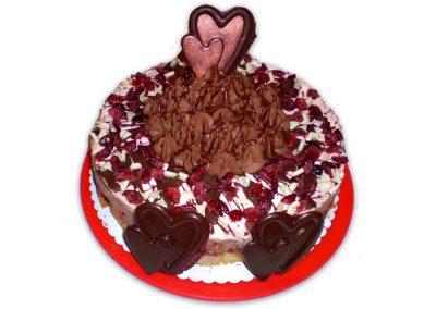 Čokoládová brusnica torta