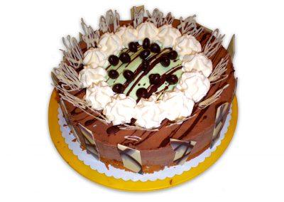 Čokoládová mäta torta