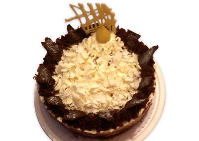 Čokoládovo-nugátové keksíky torta