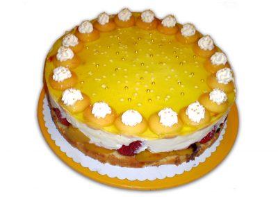 Citrónový ananás torta
