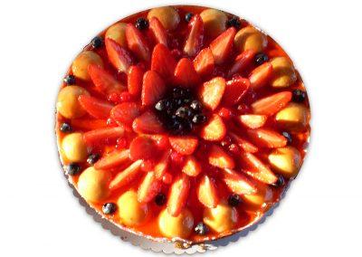 Jahodová limetka torta
