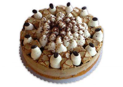 Kávové crème brûlée torta