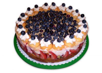 Lesné ovocie - ricotta torta