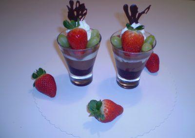 Pravá čokoláda čučoriedka poháre