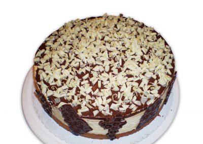 Toffifee keksíky torta