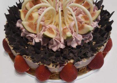 Čokoládové cherry torta