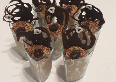 čokoládová pena - poháre
