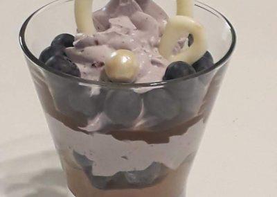 čučoriedka čokoláda - pohár