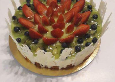 Jahodová rebarbora torta