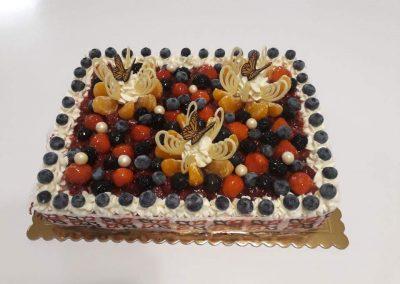 Ovocná papaya torta