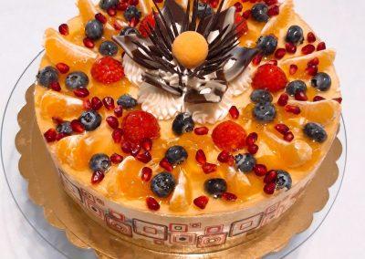 Citronový ananas torta